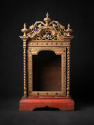 Antique Wooden Burmese Temple From Burma 19th Century