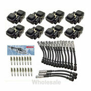 Ignition Coil B3208 And 16 Cable Wires And 16 Spark Plug Set For Mercedes Benz Sw21