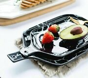 Ceramic Tableware Dishes Plate European Style Marble Patterns Platter Bow Cutter