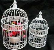 Iron Bird Cage With Flower Decoration Top Graded High Quality Material Bird Tent