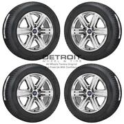 20 Ford F150 Pvd Bright Chrome Wheels Rims And Tires Oem Set 4 2018-2020 10172