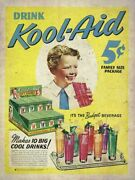 12 Kool Aid 5andcent Family Size Package Drink Heavy Duty Usa Made Metal Adv Sign
