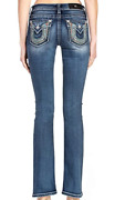 Miss Me Womenand039s Mid-rise Boot Jeans Horseshoe Embroidery Embellishment