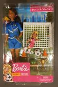 Barbie You Can Be Anything Soccer Coach Playset Brunette Soccer Coach Doll - New