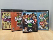 The Sims 2 + 3 Expansion Packs Pc Games Original Packaging/booklets Lot Of 4