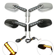 Motorcycle Rear View Mirrors Led Front Turn Signals Light For Harley Vrod Vrscf