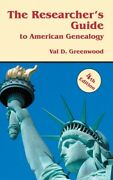 Researcherand039s Guide To American Genealogy 4th Edition