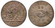 Sierra Leone. 1791 Ar 20 Cents. Pcgs Au50. Km 4 Silver Vice Ft4a.