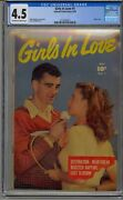 Girls In Love 1 Cgc 4.5 Golden Age Romance Only Graded Copy Super Rare