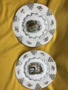 Pair Of Stunning Antique Z.s And C O Bavaria Germany Plates Women And Cupid