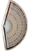 Antique Lace Celluloid Hand Painted Fan Framed 28andrdquo X 16andrdquo