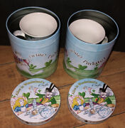 Alice In Wonderland Paul Cardew Large Pair Of 5andrdquo Cafe Mugs Coasters Andlsquo08 Canister