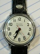 Serviced 1967 Bulova Accutron 214 Railroad Stainless Numbers Matching Mens Watch