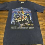 Vintage Disney Twilight Zone Tower Of Terror Ride Shirt Small Mickey Goofy 90s