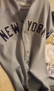 1980 Ny Yankees Rick Cerone Signed Away Game Used Worn Jersey And Game Used Pants