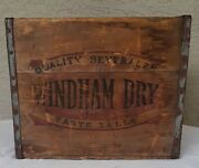 Antique Windham Dry Beverages Wood Bottle Crate - Worcester Ma Dated 1946