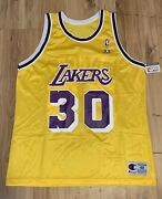 Vintage Nwt Champion Los Angeles Lakers George Lynch Jersey Mens Xl 48 Rare