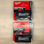 Milwaukee 2 Pack 48-11-1880 M18 High Output 8 Amp Battery New 2 Day Shipping