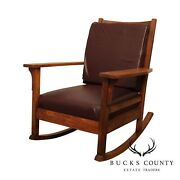 Antique Mission Oak Rocker Rocking Chair