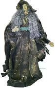 Large Witch Decoration Paper Mache Centerpiece Tree Topper Table Shelf Greeter