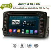 7 Android 10.0 Dvd Car Radio Stereo Gps Sat Navi For Mercedes C-class C250 C350