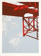 Allan Dandrsquoarcangelo Untitled - Red Bridge Screenprint On Arches Signed And Numb
