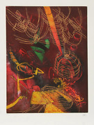 Roberto Matta, Hom'mere Iv - 1, Aquatint Etching, Signed And Numbered In Pencil