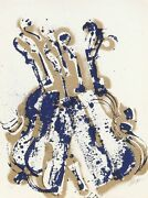 Arman, Yves Klein's Violins, Screenprint, Signed And Numbered In Pencil