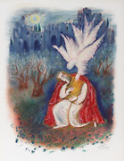 Reuven Rubin, Xii From Visions Of The Bible, Lithograph, Signed And Numbered In