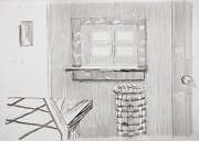 Richard Artschwager, Window, From Notes On A Room, Etching, Signed And Numbered