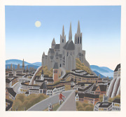 Thomas Mcknight, Citadel, Screenprint, Signed And Numbered In Pencil