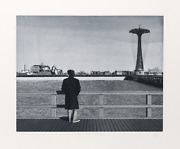 Max Ferguson Coney Island - Self-portrait Etching With Aquatint Signed And Nu