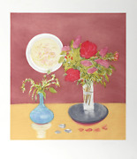 Jane Freilicher, Bouquet, Etching With Aquatint, Signed And Numbered In Pencil