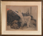 Louis Icart Paresse Etching Signed In Pencil