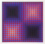 Victor Vasarely Untitled From Permutations Squares Screenprint Signed And N