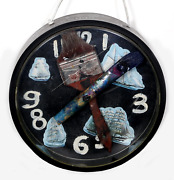Konstantin Bokov Navigation Clock Acrylic On Board And Found Art Collage Sign