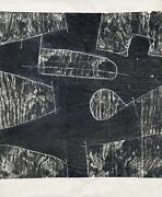 Mel Kendrick, Untitled, Woodcut On Thin Wove Paper, Signed And Numbered In Penci