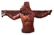 Daphnandeacute Du Barry The Christ Of The Angels Plaster And Wood With Leather Mixed M