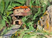Alfred Sandford House With Orange Roof Acrylic On Arches Paper Estate Stamped