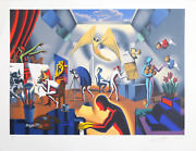 Mark Kostabi The Big Picture Lithograph Signed And Numbered In Pencil