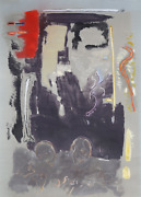 Stephen Greene Abstract With Skulls Acrylic And Mixed On Paper Signed And Dat