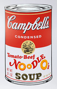 Andy Warhol Campbelland039s Soup Ii Tomato Beef Noodle Screenprint Stamped In Blu