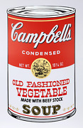 Andy Warhol Campbelland039s Soup Ii Old Fashioned Vegetable Screenprint Stamped I