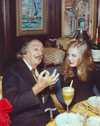 Stanley Einzig Dali With Young Woman I From Salvador Daliand039s Birthday Party Col