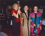 Stanley Einzig Dali Smiling With Two Women Iii From Salvador Daliand039s Birthday Pa