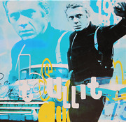 Dganit Blechner, Steve Mcqueen - Bullit, Screenprint On Canvas, Signed And Numbe