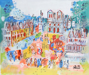 Charles Cobelle Notre Dame Plaza 1 Acrylic On Canvas Signed L.r.