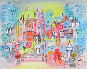 Charles Cobelle View Of Notre Dame And Bridge 1 Acrylic On Canvas Signed