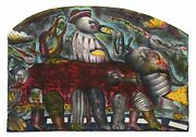 Alejandro Colunga Autobus Lithograph On Arches Signed And Numbered In Pencil