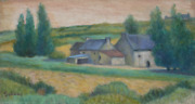 Laurent Marcel Salinas, Farm In Northern Brittany 1038, Oil On Canvas, Signed